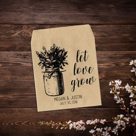 Wedding Favors, Seed Packets, Let Love Grow #weddingfavors #weddingseedpackets #seedpacketfavors #seedweddingfavors #letlovegrow #rusticfavors #seedenvelopes #weddingfavorsseeds #personalizedfavors #seedpackets #wildflowerseeds #flowerseedpackets #customseedpackets