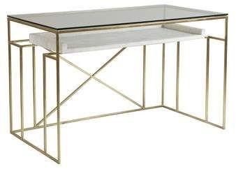 Artistica Signature Designs Glass Desk Wayfair Gallery Shelves Furniture Table