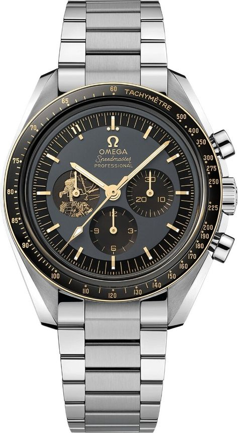 Omega Speedmaster Moonwatch Apollo 11 Anniversary The Speedmaster is one of OMEGA's most iconic timepieces, having been a part of all six moon landings. Celebrating the anniversary of Apollo 11 in OMEGA presents this Limited Edition model Omega Speedmaster Moonwatch, Apollo 11, Bracelet Nato, Bracelet Cuir, Rolex, Best Watches For Men, Luxury Watches For Men, Tudor Black Bay, Stylish Watches