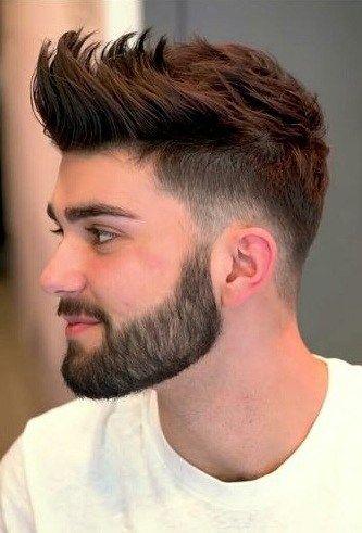 Fade Front Spikes Men Haircut Styles Beard Haircut Hair And Beard Styles