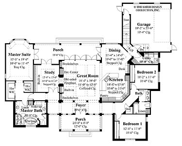 Home Plans HOMEPW09170 - 2,454 Square Feet, 3 Bedroom 2 Bathroom Cottage Home with 2 Garage Bays