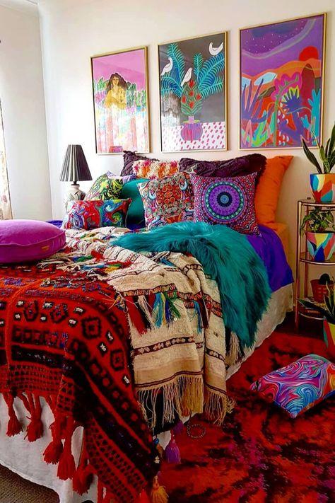 bohemian bedroom 416231190563882808 - 22 Dreamy Boho Bedroom Design Ideas Source by Bohemian Bedroom Design, Boho Room, Bohemian Interior, Home Interior, Bohemian Decor, Bedroom Designs, Bohemian Bedrooms, Bedroom Ideas, Bohemian Fashion