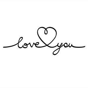 Silhouette Design Store - View Design #114865: love you title