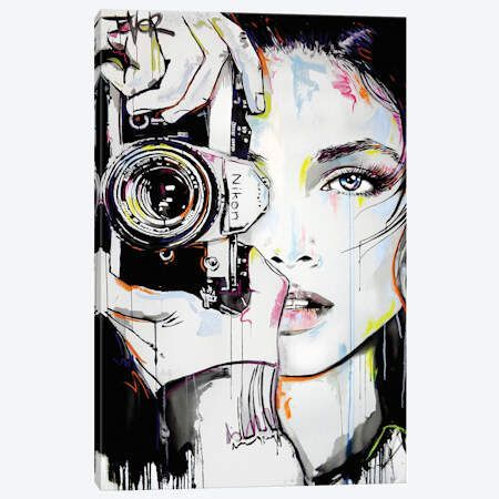 A Bigger Zoom Canvas Print #LJR314} by Loui Jover Canvas Wall Art