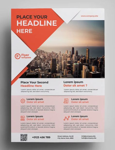 Corporate Flyer Template AI, EPS