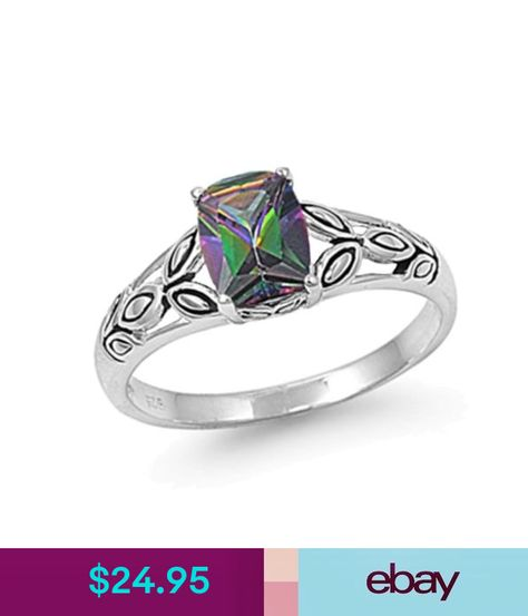 Alexandrite Rings For Women Sterling Silver Twist Band Round Cut Gemstone Customized Jewelry Size 3-12