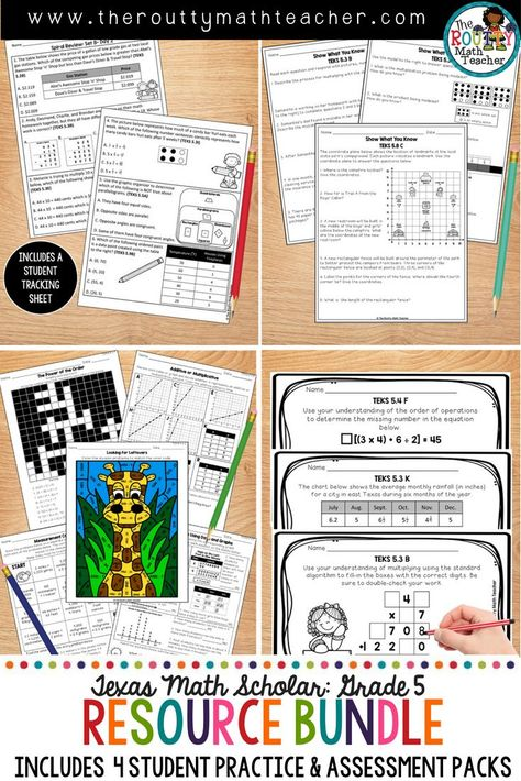 Assessments Exit Tickets Worksheets Spiral Review For Teks Math