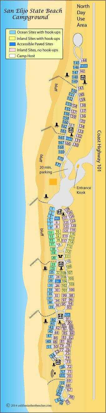 Carlsbad State Beach Camping Map : carlsbad, state, beach, camping, Southern, California, Camping, Ideas, Camping,, Diego, Travel