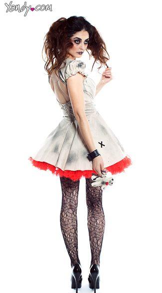 voodoo doll vixen costume voodoo dolls voodoo and witch costumes - Mystical Halloween Costumes