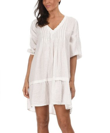 This White Marine Linen Dress by Couleur Lin is perfect ...