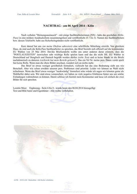 Purchase Requisition Letter Seite 8  Leo Moor  Ungleich Behandelt März 2014  Pinterest