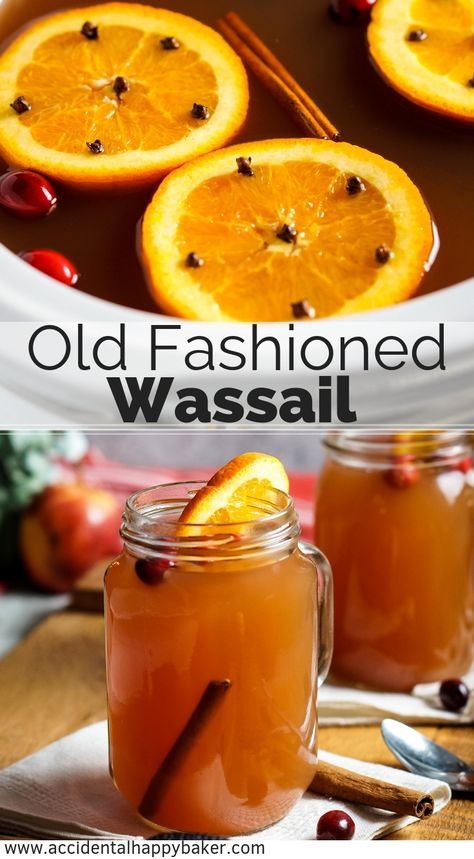 Old Fashioned Wassail takes apple juice, cranberry juice, pineapple juice, and spices and transforms them into the ultimate winter warm-you-up drink. Perfect for holiday parties. Thanksgiving Drinks, Christmas Drinks, Holiday Drinks, Holiday Recipes, Holiday Parties, Christmas Punch, Fall Recipes, Christmas Holidays, Punch Recipes
