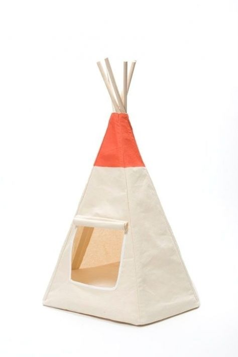 The Algonquin Teepee...A teepee for your cat. This by TailsEnd, $135.00 #Retriever #puppy #Labrador