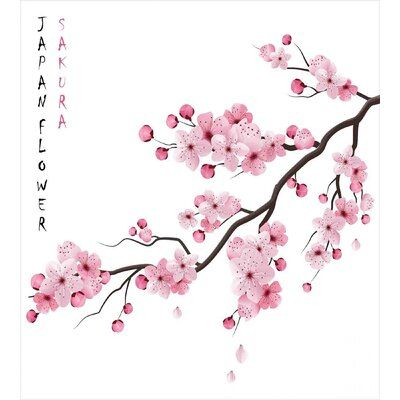 East Urban Home Asian Duvet Cover Set Cherry Blossom Clip Art Cherry Blossom Art Cherry Blossom Drawing