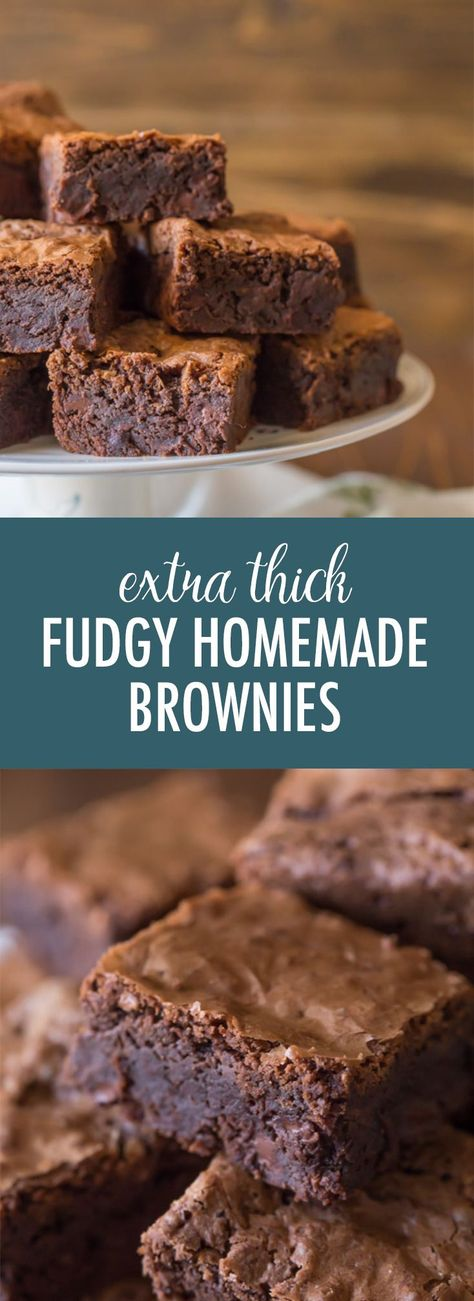 Let me convince you that homemade brownies are better than boxed! #homemadebrownies #fudgybrownies #brownies #fromscratch #betterthanboxed #chocolate #dessert