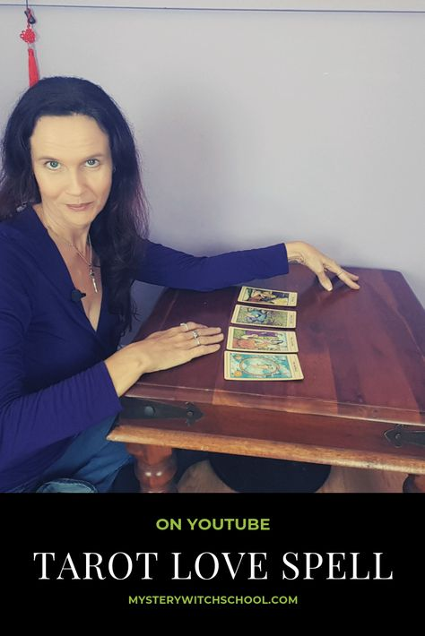 This youtube video shows you how to create your own spells using the tarot cards. #learnwicca #witchcraftforbeginners #newtowitchcraft #howtobecomewiccan #bookofshadows #spells #witchcraftlovespells #pagan #tarot #tarotspells #wiccan #goddess #witchcraftaesthetic #paganquotes