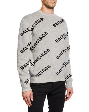 Logo Intarsia Crewneck Sweater