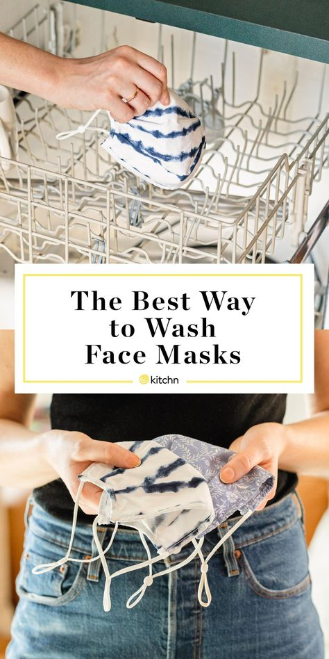 How often do you need to wash your cloth face masks? The CDC recommends washing ti whenever it gets dirty or at least daily. Luckily, there's an easy way to do just that — in the dishwasher!