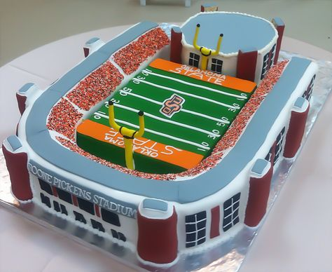 Boone Pickens Stadium Grooms Cake by All Things Cake.  Allthingscakeshop.com