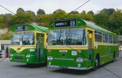 Details About Bus Photo Of A Southdown Photograph Picture Pair Of
