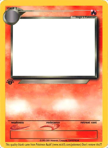 Gallery For Blank Dark Pokemon Cards 364x498 Jpeg Pokemon Card Template Pokemon Pokemon Party Games