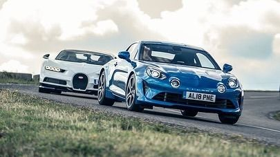 Le Fameux Speed Week De Top Gear Avec L Alpine A110 Et La Bugatti Chiron En Alsace Rowanhorncastle Alpine A110 Bugatti Toy Car Automobile Vehicles