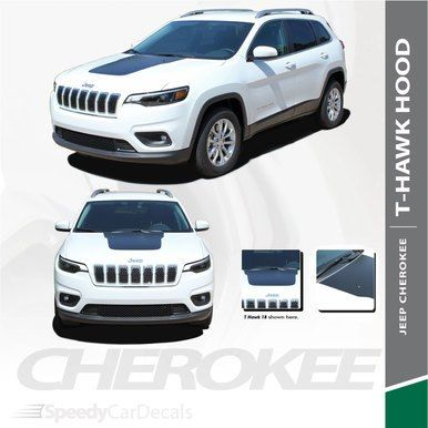 T Hawk 2018 2020 Jeep Cherokee Trailhawk Center Hood Blackout