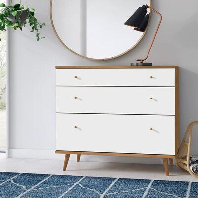 Foundstone 3 Drawer Dresser Wood In White Tuscan Size 21 L X 39 38 W X 35 H Wayfair In 2021 Dressers And Chests 3 Drawer Dresser Dresser Drawers