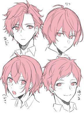 Drawing Hairstyle Male Hairstyles Manga Hair Anime Character Design Anime Boy Hair