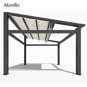 Electric Gazebo Waterproof Awning Pergola With Louvered Roof Aluminum Gazebo Waterproof Awnings Aluminum Pergola