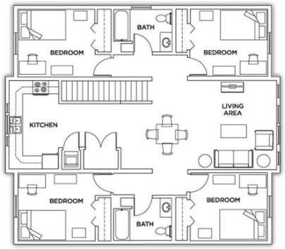 68 Ideas Apartment Student Plan Apartment Floor Plans Student House Hostels Design