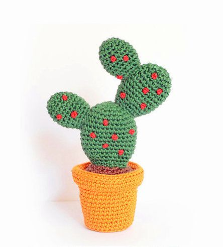 12 Crochet Cactus Tutorial - Creative Ideas | Crochet cactus ... | 492x444