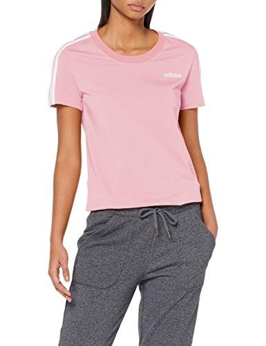 adidas Damen Essentials 3-Stripes Slim Kurzarm Shirt True ...