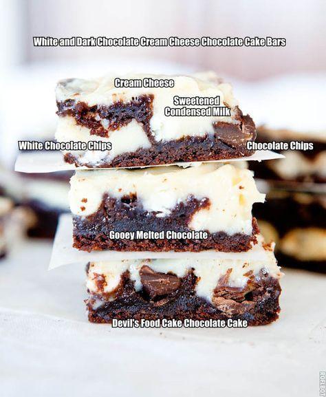 Chocolate Cream Cheese Cake Bars Using Cake Mix Averie Cooks Recipe Chocolate Chip Recipes Devils Food Cake Mix Recipe Sweetened Condensed Milk Recipes
