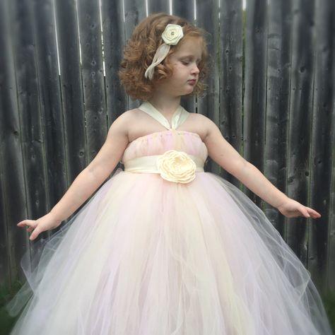 Flower Girl Tutu Dress, Girls Tutu Dress, Empire Waist Tutu, Photo Prop Tutu, Flower Sash Tutu Dress, Wedding Tutu Dress, Birthday Tutu - pinned by pin4etsy.com