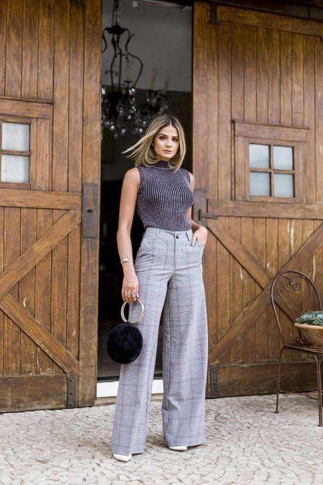 revisa a7d75 34f0e 56+ Outfits con Pantalones Palazzo para lucir con Estilo ...