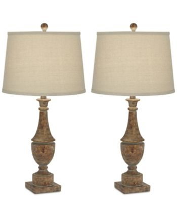 Kathy Ireland Pacific Coast Collier Table Lamps Set Of 2 Reviews All Lighting Home Decor Macy S Table Lamp Lamp Table Lamp Sets