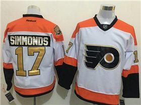 wholesale dealer 28077 fa3d6 Philadelphia Flyers #17 Wayne Simmonds 3rd White Jersey w ...