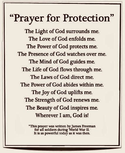 I remember seeing this prayer hung up on my own house a while back