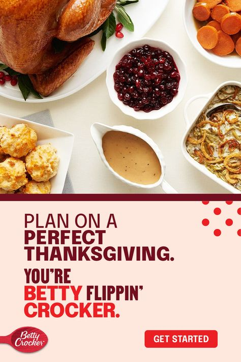 Betty will break down the Thanksgiving side dishes, appetizers, desserts, and even how to cook a turkey with our meal prep guide for pulling off a Thanksgiving dinner. From 2 weeks ahead to the day of, you'll be ready to Betty. Start planning now so when you're carving up that bird, the only thing you'll be worried about is if you can eat a third helping.