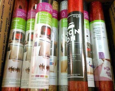 Huge 14 RollsSheets Cricut Assorted Vinyl Lot Bundle All New!