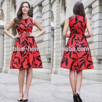 Women Clothes Fall Fashion Colour Combination Sleeveless Dress With Zipper  Belt