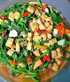Cah Kangkung Tempe Di 2020 Resep Masakan Masakan Vegetarian Masakan
