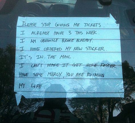 25 Most Hilarious Windshield Notes Ever