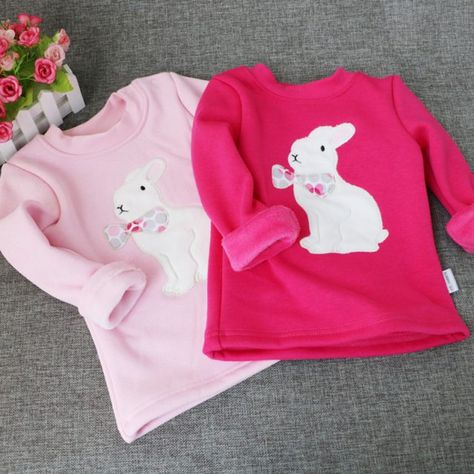 Kids Toddler Baby Girl Floral Long Sleeve Warm Tops T-Shirt Blouse Sweatershirt