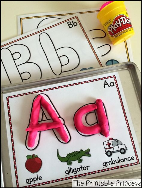 """Alphabet play dough mats. Easy for beginning kindergarten because the letters on mat look like real play dough """"snakes""""."""