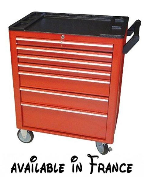 Cogex 62746 Servante atelier m/étal sur roues