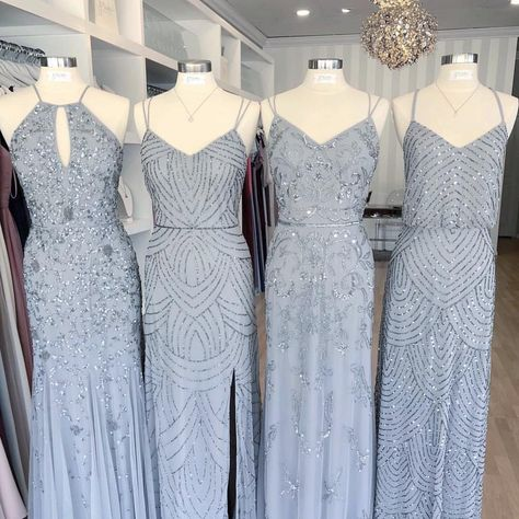 Bridesmaid Dress Designers carried at Amanda's Bridal and Tux. Blue Bridesmaids, Wedding Bridesmaid Dresses, Bridal Dresses, Prom Dresses, Girls Dresses, Prom Outfits, Wedding Gowns, Designer Bridesmaid Dresses, Look At You
