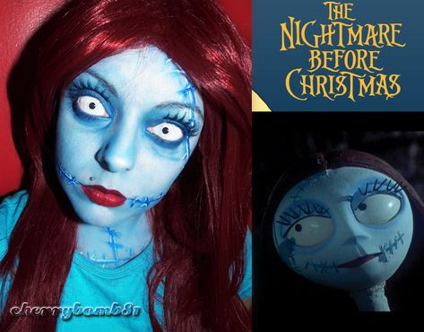 Halloween makeup Sally Nightmare Before Christmas by =cherrybomb-81 on deviantART