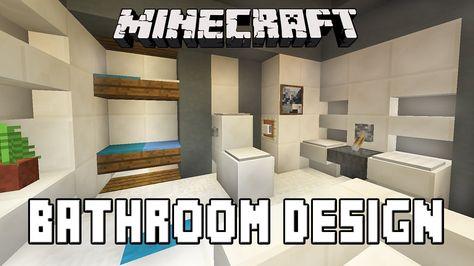 Bathroom Design Minecraft minecraft tutorial: bathroom and furniture design ideas (modern
